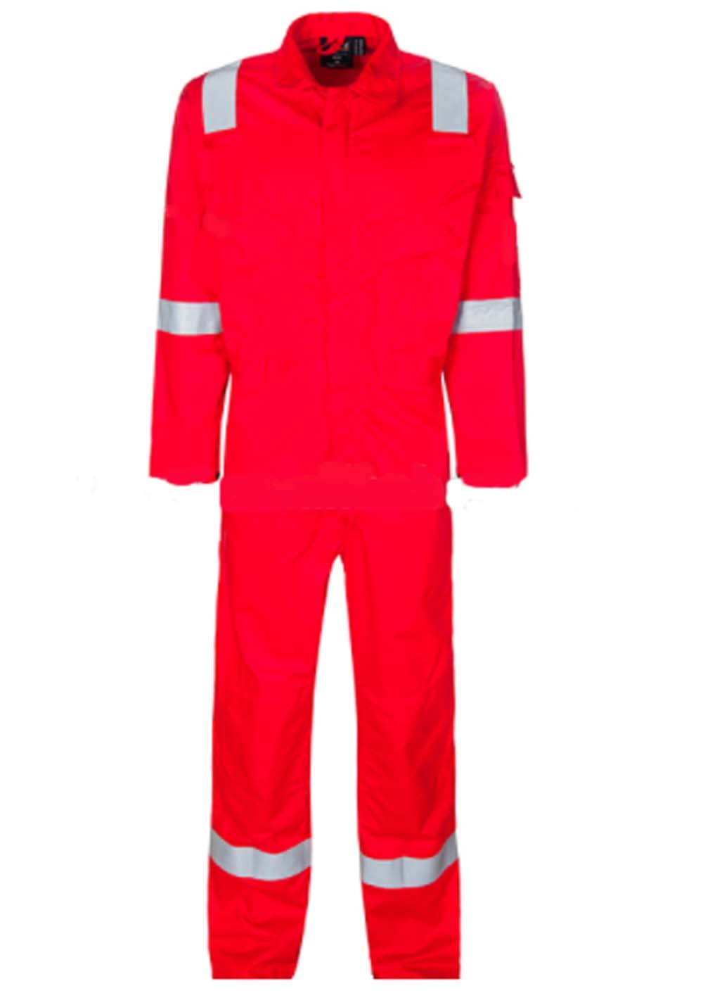 壁fr-industriesメンズレッドReflector Coveralls for Work wear 44 Regular B078P8GKXB
