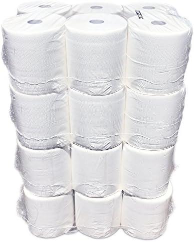 24 x Handtuchrollen, 2-lagig, 140 m, hochweiß, zur Aussen-Abrollung für Handtuch-Automaten