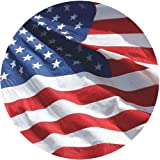 Outdoor Flags American Flag 3x5 - 100% Made In USA using Tough, Long Lasting Nylon Built for Outdoor Use, UV Protected and Featuring Embroidered Stars and Sewn Stripes plus Locked Stitches on Stripes and Quadruple Stitching on the Fly End
