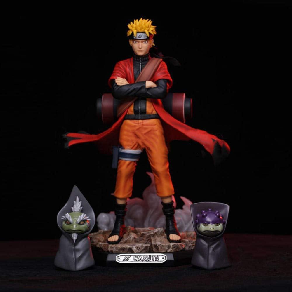 dsfew Ornements en Bois Gk Naruto F/ée Mode Vortex Naruto Crapaud Statue en Bo/îte Main Bureau Poup/ée Ornement Mod/èle Environ 22 cm de Hauteur
