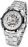 Winner Luxury Silver White Dial Automatic Mechanical Watch for Men's & Boys (Without Battery for Life).