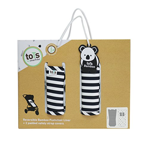 toTs Stroller Liner + Padded Safety Strap Covers, Forest, Black & White by toTs (Image #3)