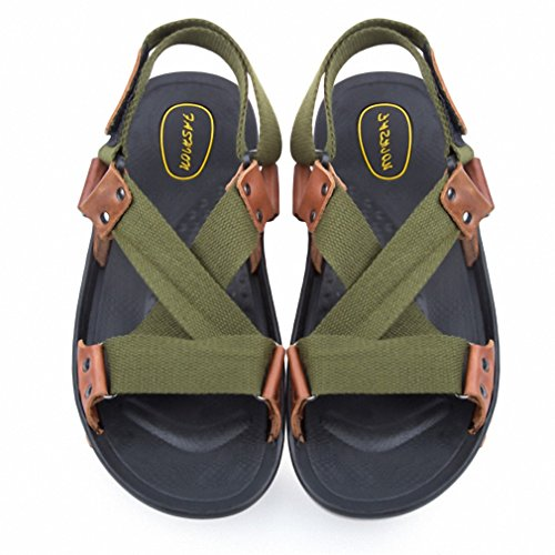 c3d6ff95c Summer Men Leather Sandals Designers Male Sandalias Hombre Beach Shoes  Sandals Zapatos Men Casual Flats Shoes