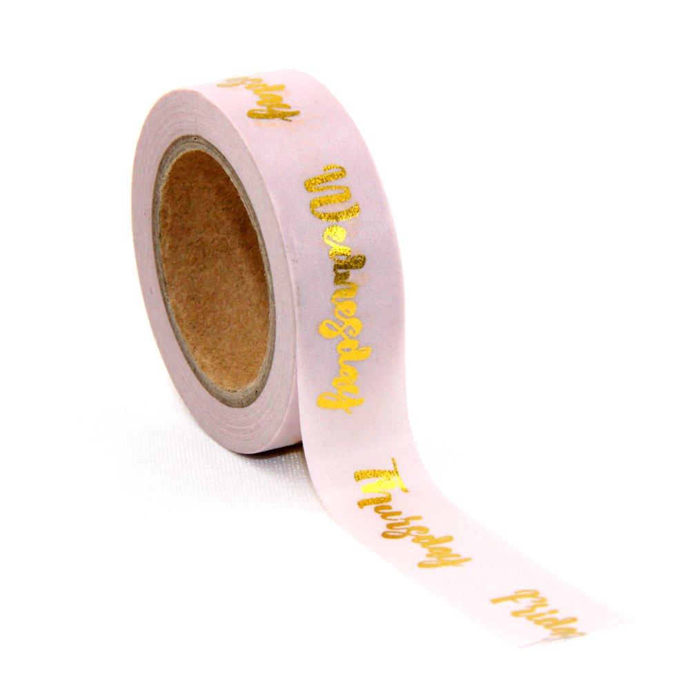 Lamina d' oro dei giorni della settimana planner Washi tape susiebsupplies