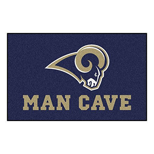 FANMATS 14374 NFL St. Louis Rams Nylon Universal Man Cave UltiMat Rug by Fanmats