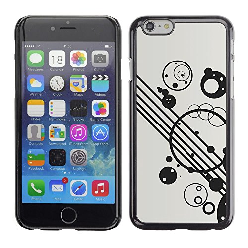 Abstract Minimalist Black White Apple iPhone 7 (4.7 inchesHard Printing Protective Cover Protector Sleeve Shell Case Cover
