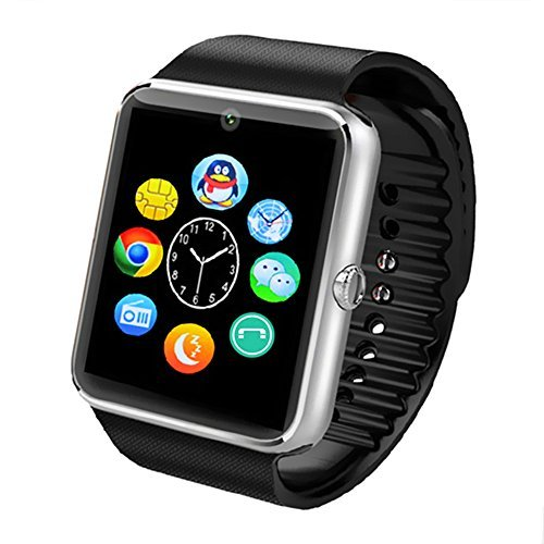 Jiakasi Smart Fitness Watch with Camera for Iphone and Android Smartphones, Silver