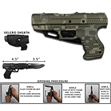 Best Quality Rogue River Tactical Digital Camo Military Green Pakkawood 1911 Gun Pistol Spring Assisted Opening Folding