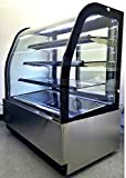 """36"""" Display Case Refrigerated Cold Deli Bakery Cake Pie Pastry Curved Glass Front Showcase LED Lighting Commercial Grade Restaurant - GL-36"""