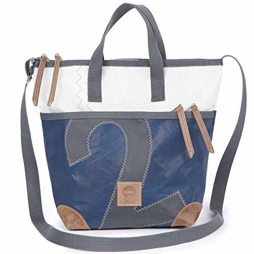Deern Bag Mini Messenger Blue Canvas Grey nbsp;degree 360 Xf5qTT