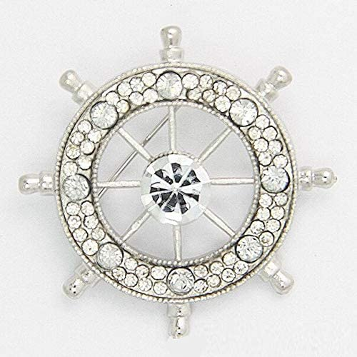 Kiola Designs Silver Toned Etched Oval Polyhedral Virus Pendant Necklace