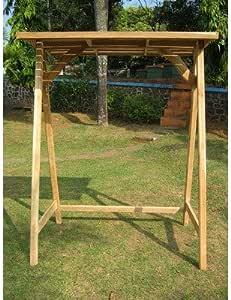 Soporte para Relax BALANCÍN de madera de teca, columpio, columpio de madera: Amazon.es: Jardín
