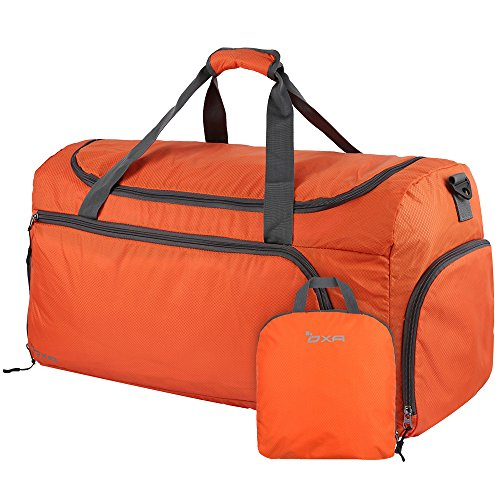 OXA Lightweight Foldable Travel Duffel Bag with Shoes Bag, (Orange Bags)