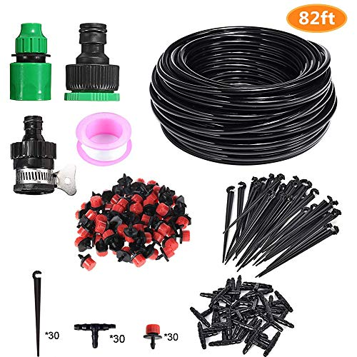 Podoy Drip Irrigation System Kits, Automatic Watering Sprinkler System for  Garden,Greenhouse, Flower Bed,Patio,Lawn,25M/82FT DIY Automatic Micro