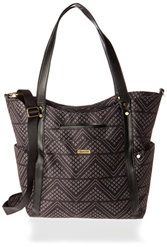 JJ Cole Bucket Tote Diaper Bag, Black Aztec