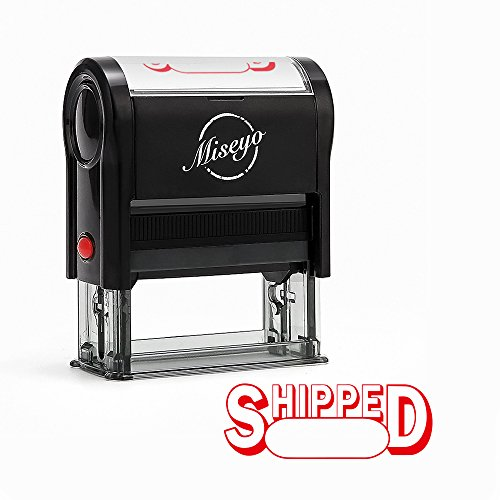 Miseyo Shipped Self Inking Rubber Stamp - Red Ink -