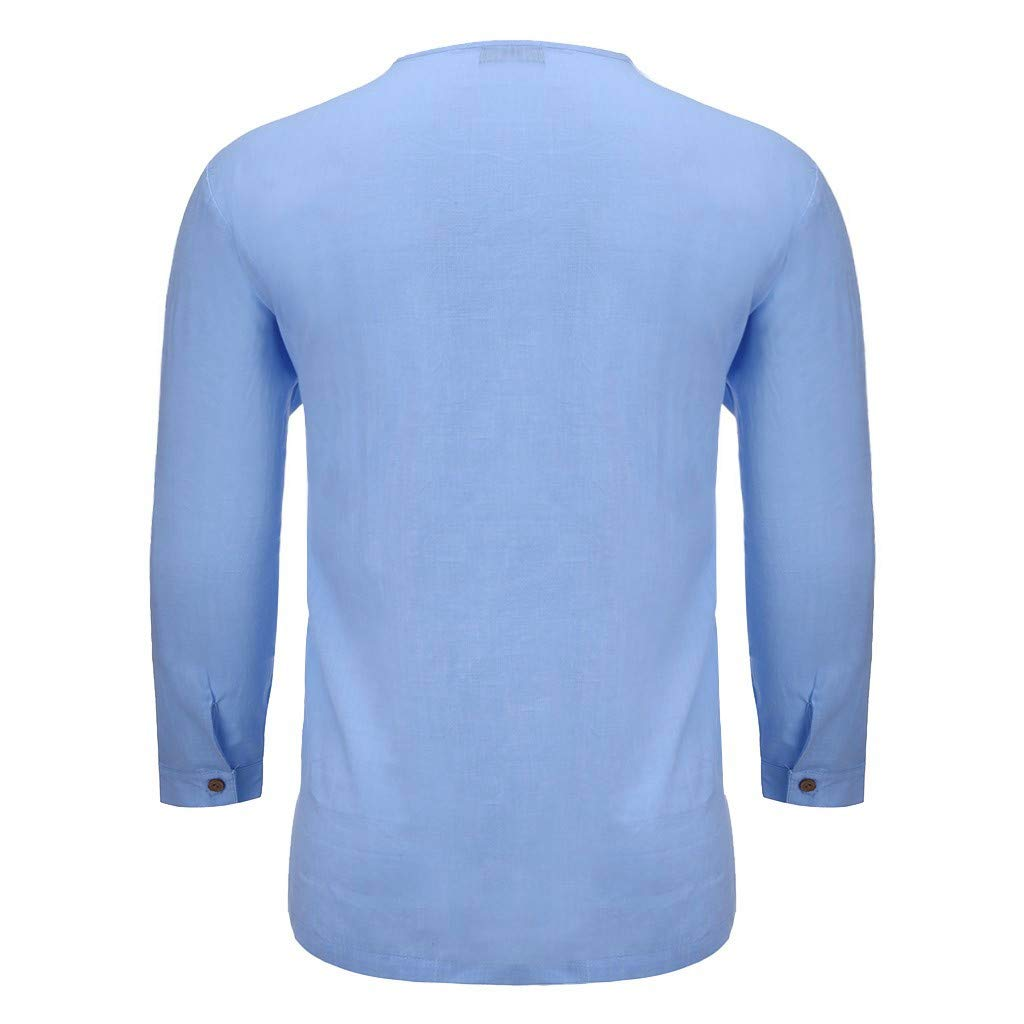 Mens V Neck Athletic Shirts Dry Fit Cotton Linen Casual Short Sleeve Workout T-Shirts Tees