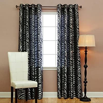 Best Home Fashion Zebra Jacquard Grommet Sheer Curtains (Two Panels; Each Measures: 52 - Keep your home decor under wraps with these Zebra jacquard curtain. Zebra Print Grommet Curtains add a fun and playful touch to your home décor Hang with standard or decorative rod and brackets (not included) - living-room-soft-furnishings, living-room, draperies-curtains-shades - 51ksRCTPPdL. SS400  -