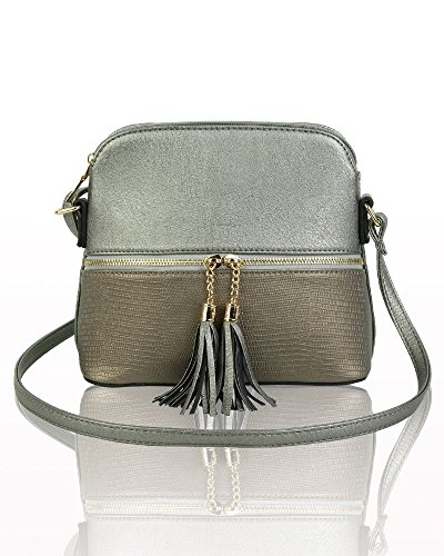 Women's Antique Body Handbags Silver Tassel Bags Party LeahWard 811 Cross Pqd8dg