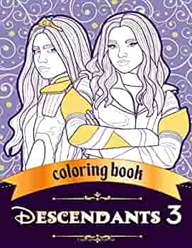 Descendants 3 Coloring Book Jumbo Coloring Book For Kids And Adults Grandy Emma 9781086316704 Amazon Com Books