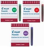 Pilot Namiki IC50 Fountain Pen Ink Cartridge Purple Green Red(69002-69003-69004)