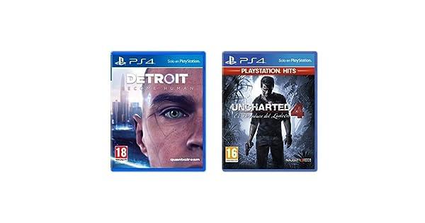 Detroit Become Human - Edición Estándar & El Desenlace Del Ladrón Hits - Edición Uncharted 4, Versión 16: Amazon.es: Videojuegos