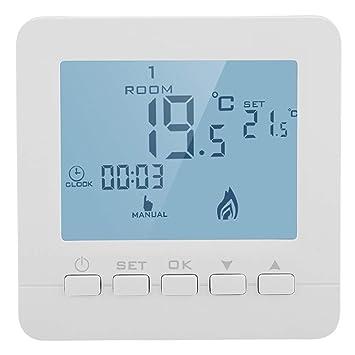 Garosa 5A Termostato Inteligente Pantalla LCD Digital Inalámbrico Controlador De Temperatura Programable: Amazon.es: Hogar