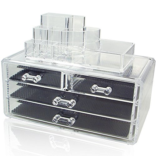 Ikee Design Jewelry & Cosmetic Storage Display Boxes Two Pie