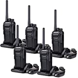 Retevis RT27 Walkie Talkies Rechargeable Long Range FRS Radio 22CH Scrambler VOX 2 Way Radio (Black,5 Pack)