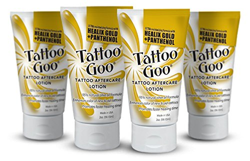 Tattoo Goo''The Lotion'' with Healix Gold Formula Special - Four (4) Lotions by Tattoo Goo