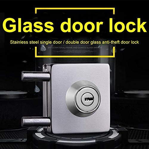 Proglam doble cara abierta 603 Cerradura de puerta de cristal de acero inoxidable de 10 a 12 mm sin perforaci/ón