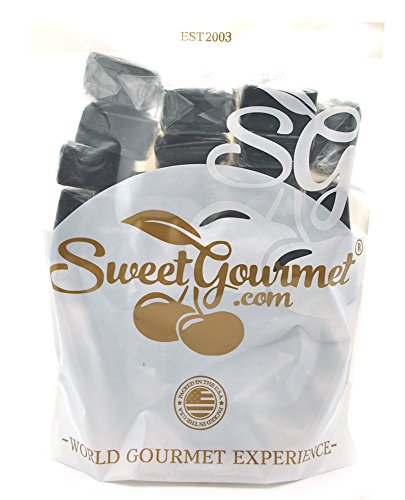 SweetGourmet Dutch Soft Wrapped Licorice Caramels - Black Wrapped Candy