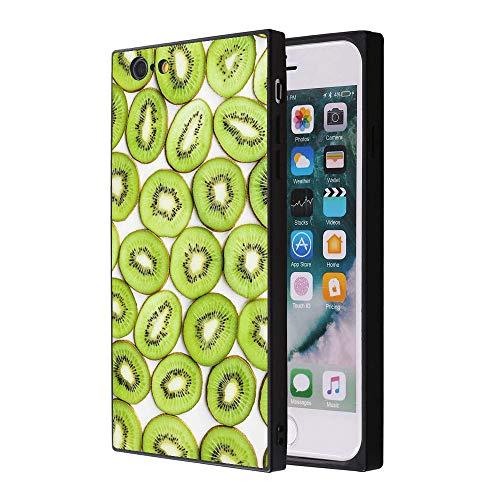 Odiasnquq Customized Fashion Anti-Scratch Soft Durable Square TPU Black Silicone Protective Kiwi Fruit Phone Case iPhone 6s Plus 6 Plus