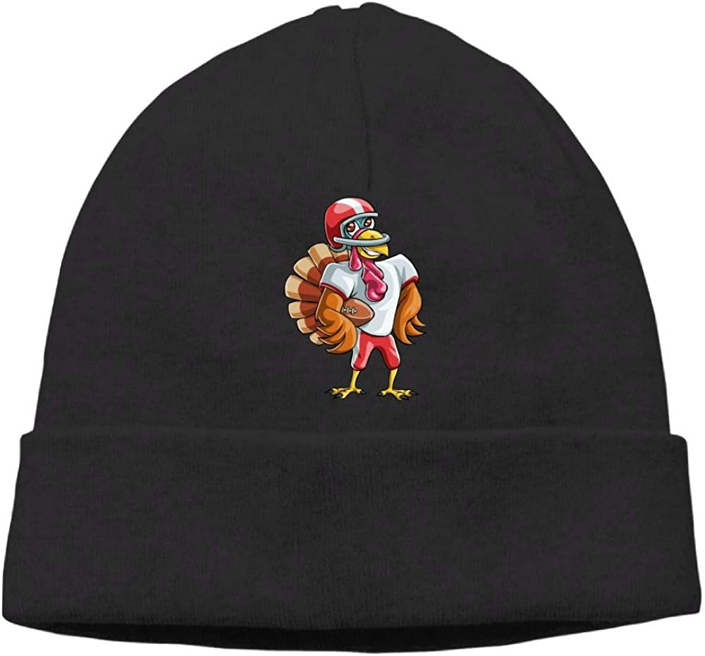 Oopp Jfhg Thanksgiving Turkey Football Beanie Knit Hats Skull Cap Unisex