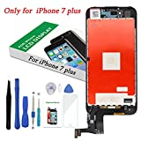 #7: Screen Replacement Black Compatible iPhone 7 Plus 5.5 inch 3D Touch LCD Screen Digitizer Replacement Frame Display Assembly Set Repair Tool Kit