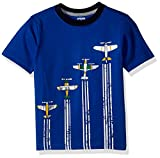 Gymboree Toddler Boys' Short Sleeve Travel Print Tee, Deep Sky Blue, 3T