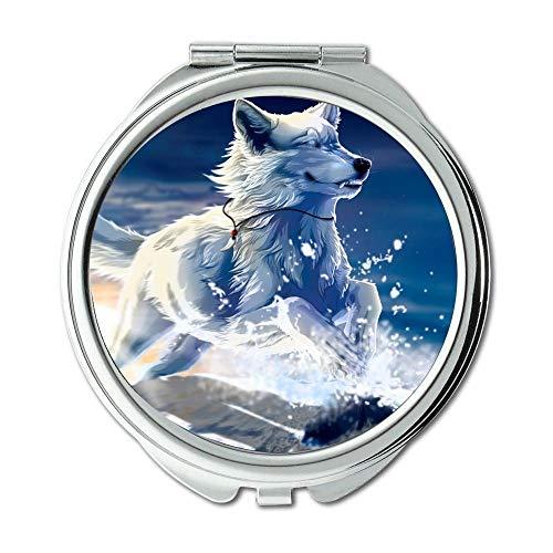 Mirror,Small Mirror,Hunting Dog Animal,pocket mirror,1 X 2X -