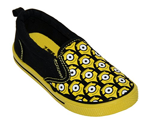 Despicable Me Toddler Boys Despicable Me Minion Sneaker (11, Black/Yellow) (Despicable Me Shoes)