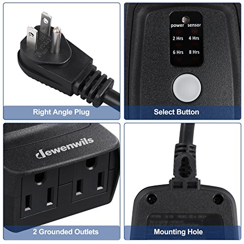 Dewenwils Outdoor Remote Control Light Timer With Countdown Waterproof Heavy Ebay