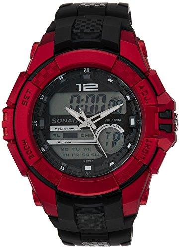 Sonata Ocean Series III Black Dial Analog Digital Men #39;s Watch   NM77027PP03 / NL77027PP03