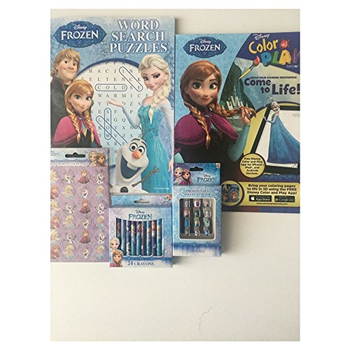 Disney Frozen Coloring Book And More Fun 5 Items Activity Word