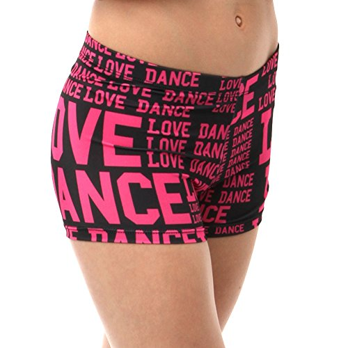 Alexandra Collection Youth Love Dance Athletic Booty Short Pink Large