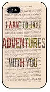 iPhone 5C I want to have adventures with you - black plastic case / Life quotes, inspirational and motivational / Surelock Authentic
