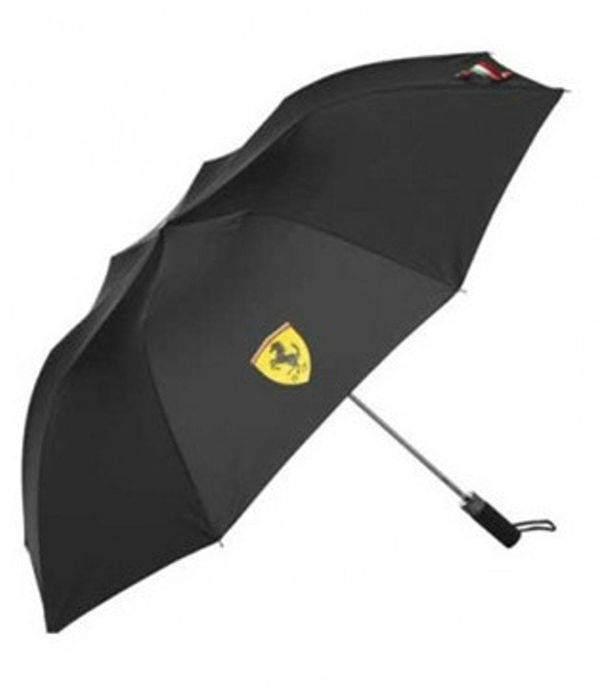 Ferrari Black Compact Umbrella
