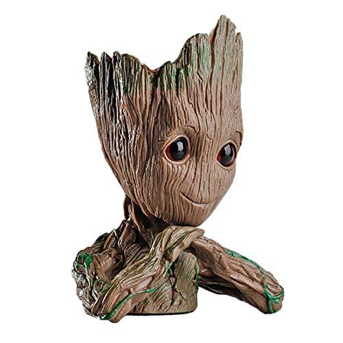 Beinbeauty Groot Flowerpot Treeman,Cute Baby Groot Pen Pot,Baby Model Toy,Birthday Gift,Pen Container,Pen Holders,pens Holder Organizer or Succulent Flowers Pot ...