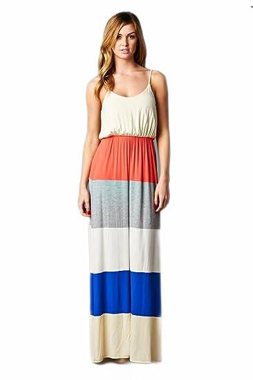 f3ce3ea8152 Vanilla Bay Color Block Maxi Dress at Amazon Women s Clothing store