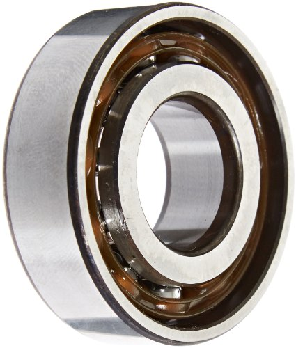 SKF 7204 BEP Light Series Angular Contact Ball Bearing, ABEC 1 Precision, 40° Contact Angle, Maximum Capacity, Open, Polyamide/Nylon Cage, Normal Clearance, 20mm Bore, 47mm OD, 14mm Width, 1870.0 pounds Static Load Capacity, 3150.00 pounds Dynamic Load Capacity