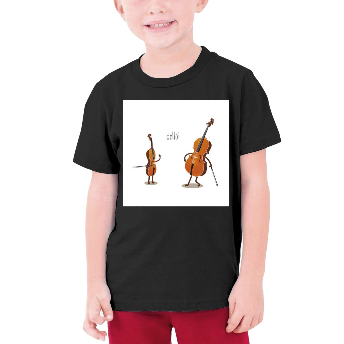 Cotton Youth T Shirts Short Sleeve for Teenager Boys Girls EROTEN Cello