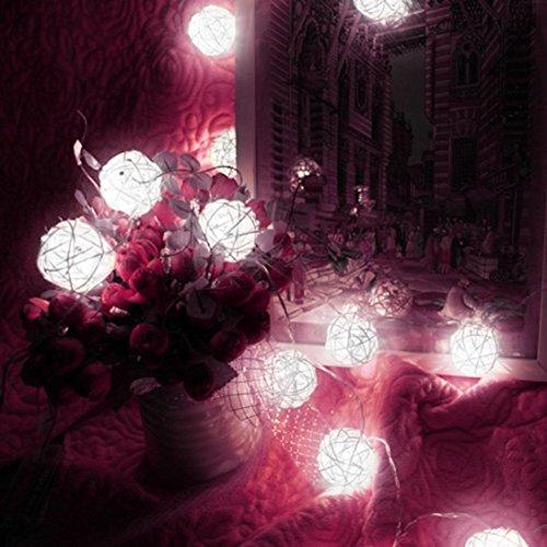 Cheap  Coohole 10 LED Color Rattan Ball String Fairy Lights For Xmas Wedding..