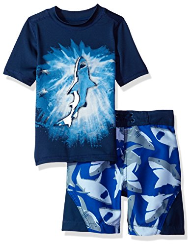 the-childrens-place-big-boys-rashguard-and-printed-swim-trunks-set-captain-navy-captain-navy-xl-14